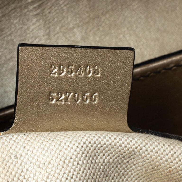 Gucci Gold Guccissima Leather Large Emily Chain Shoulder Bag For Sale 3