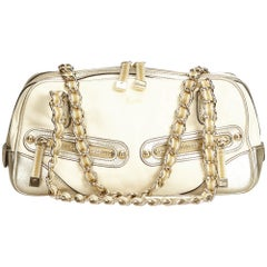 Gucci Gold Leather Princy Shoulder Bag