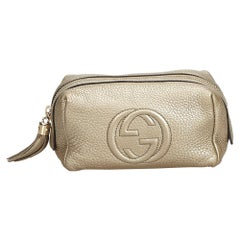 Gucci Gold  Leather Soho Pouch Italy