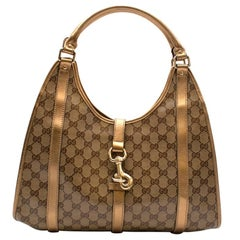 Gucci Gold Monogram Joy Shoulder Bag