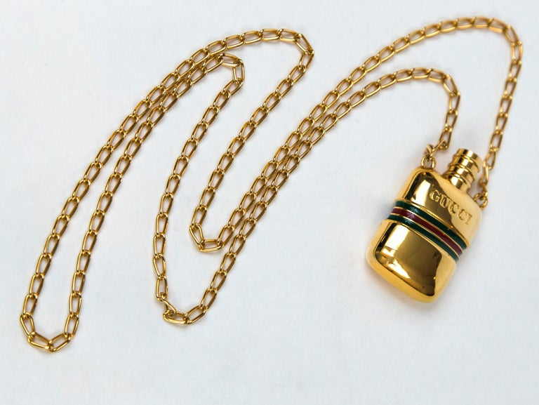 Gucci Gold Perfume Necklace,