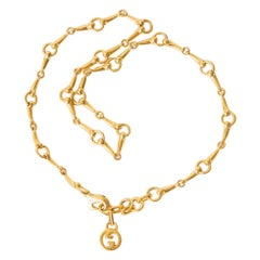 Gucci Gold Plated Link Necklace Vintage