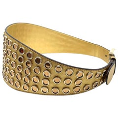 Gucci Gold Tone Leather Belt