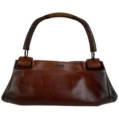 Gucci Gradient Brown Leather Wooden Handle Satchel Bag