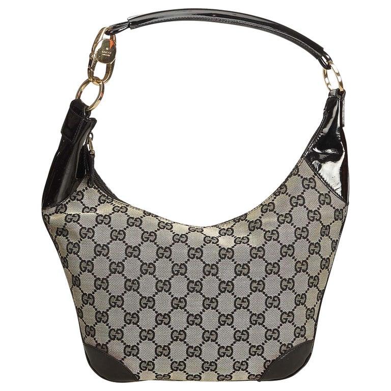 b39d11a6a31 Gucci Gray Guccissima Canvas Shoulder Bag at 1stdibs