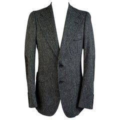 Gucci Gray Wool Blend Men Blazer Jacket Size 46