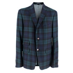 Gucci Green & Blue Checked Jacket XL IT52