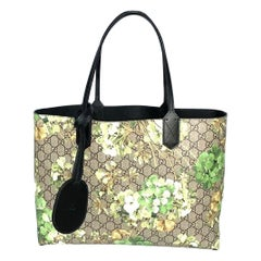 Gucci Green Canvas Blooms Shoulder Bag