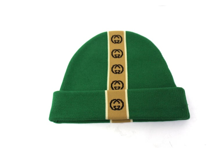 Gucci Green Hat  In New Condition For Sale In Torre Del Greco, IT