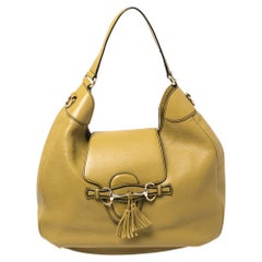 Gucci Green Leather Emily Hobo