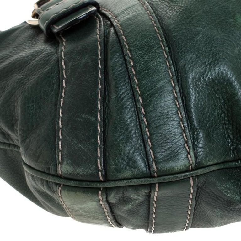 Gucci Green Leather Hysteria Shoulder Bag For Sale 6