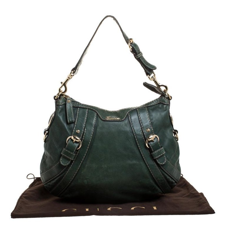 Gucci Green Leather Hysteria Shoulder Bag For Sale 7