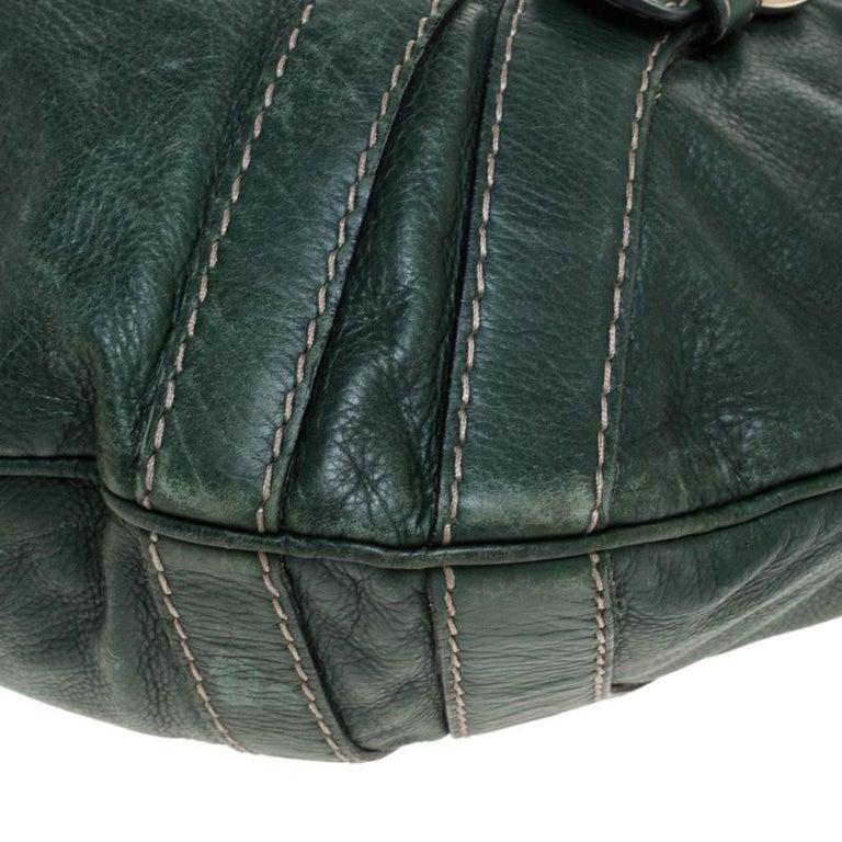 Gucci Green Leather Hysteria Shoulder Bag In Good Condition For Sale In Dubai, Al Qouz 2