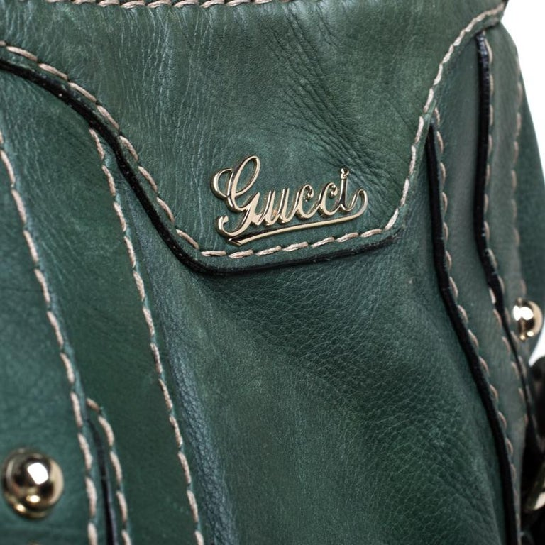 Gucci Green Leather Hysteria Shoulder Bag For Sale 1