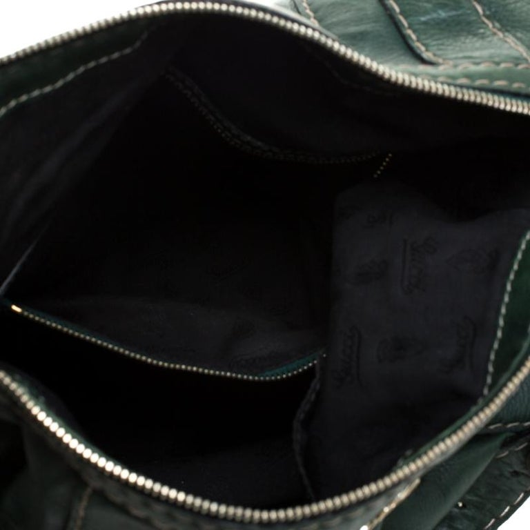 Gucci Green Leather Hysteria Shoulder Bag For Sale 2