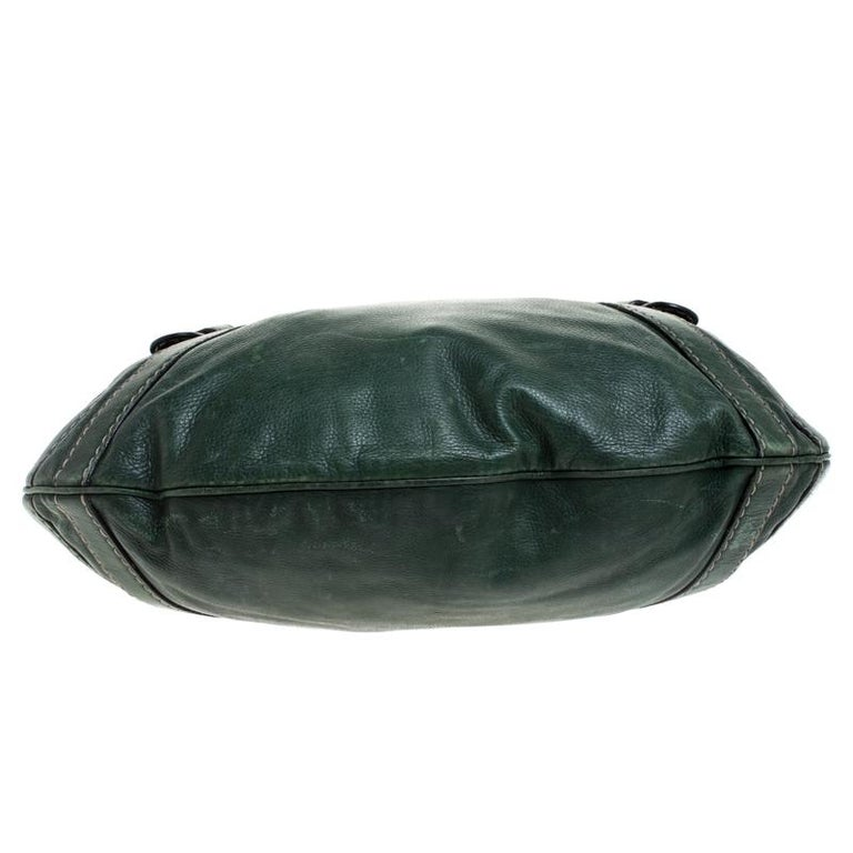 Gucci Green Leather Hysteria Shoulder Bag For Sale 3