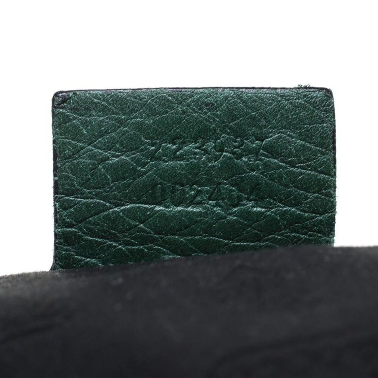 Gucci Green Leather Hysteria Shoulder Bag For Sale 4