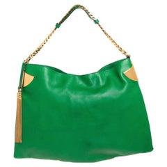 Gucci Green Leather Large Gucci 1970 Shoulder Bag