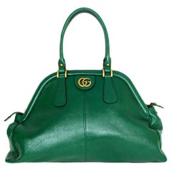 Gucci Green Leather Large (Re)Belle Tote Bag