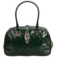 Gucci Green Patent Leather Leather Horsebit Shoulder Bag Italy