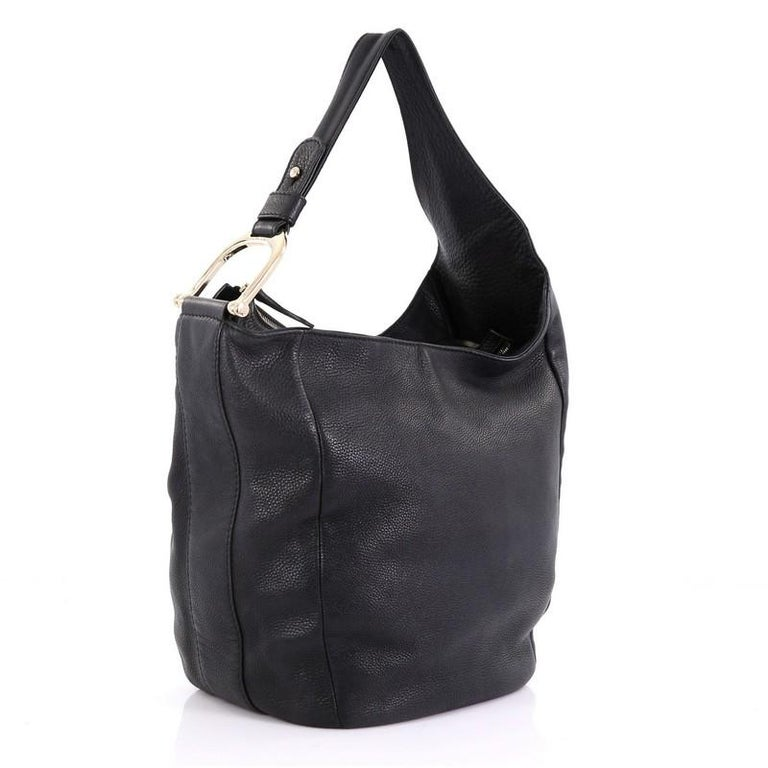 881c579a59c5 Black Gucci Greenwich Hobo Leather Large For Sale