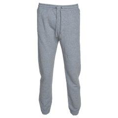 Gucci Grey Logo Print Cotton Jogger Pants M