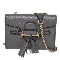 Gucci Grey Microguccissima Leather Emily Shoulder Bag