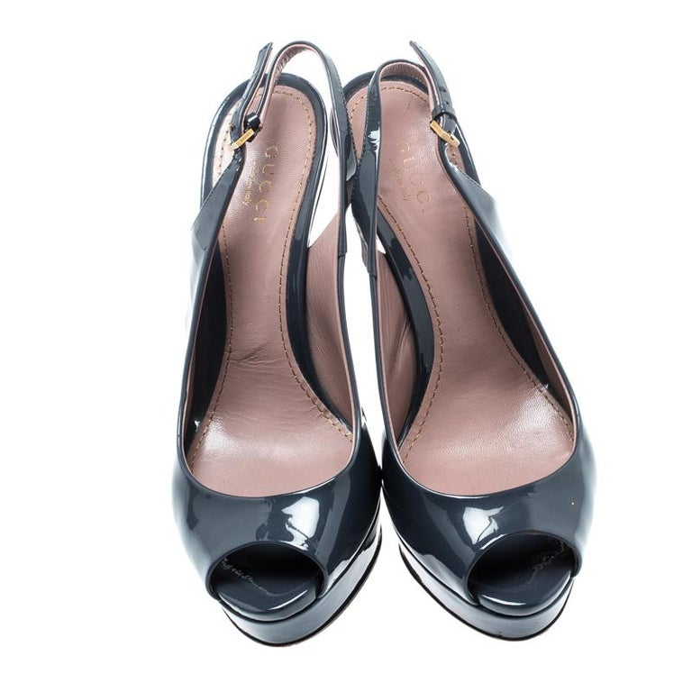 Keep it casual and chic with these patent leather sandals. These stylish sandals are lined with premium leather and will keep you at the top of your style game. These fashionable sandals from Gucci can give your entire ensemble a makeover. The pair