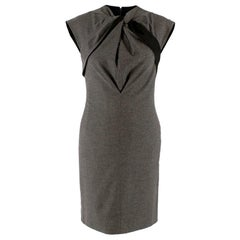 Gucci Grey Wool Tailored Dress - Size US 2