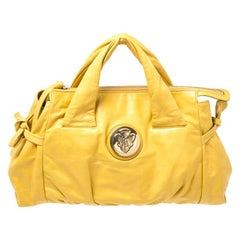 Gucci Gucci Mustard Leather Hysteria Tote