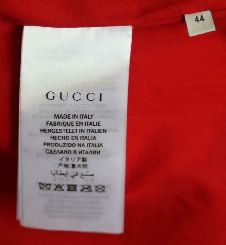 Gucci Gucci Print Leather Bomber Jacket  For Sale 2