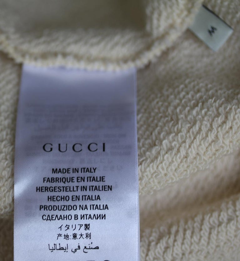 Gucci Guccify Yourself Printed Cotton-Jersey Hooded Sweatshirt For Sale 1