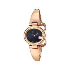 Gucci Guccissima Black Dial Rose Gold PVD Ladies Watch Item No. YA134509