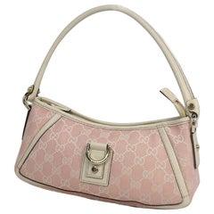 GUCCI Habitsー line Womens shoulder bag 130939 pink x white