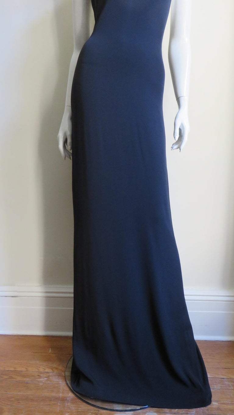 Gucci Backless Silk Halter Gown with Hardware Collar  For Sale 3