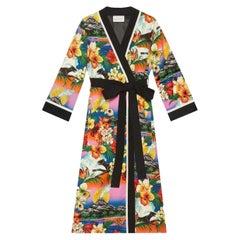 Gucci Hawaiian-Print Silk Kimono