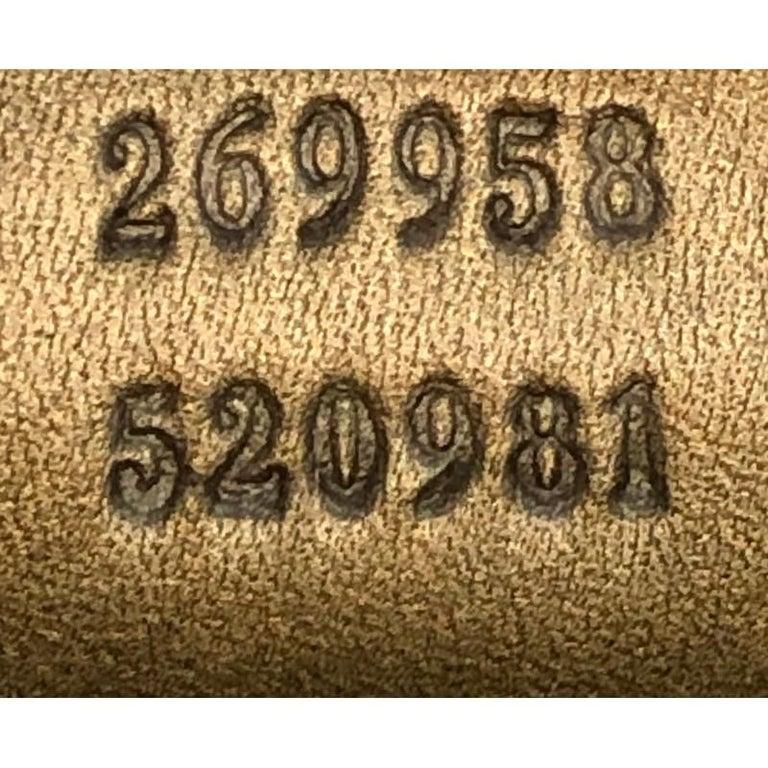 Gucci Heart Bit Hobo Monogram Lurex Medium For Sale 5