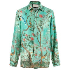 Gucci Heritage Floral Print Silk Shirt 38/15