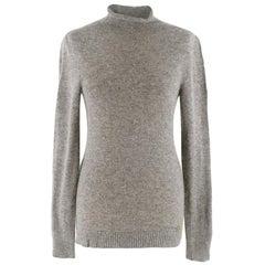 Gucci High Neck Grey Cashmere Jumper - Size XS