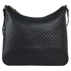 GUCCI hobo Shoulder bag in Black Leather