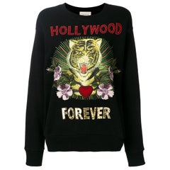 Gucci Hollywood Forever Embroidered Cotton-Jersey Sweatshirt