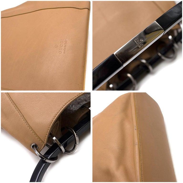 Gucci hoop-handle leather bucket bag For Sale 1