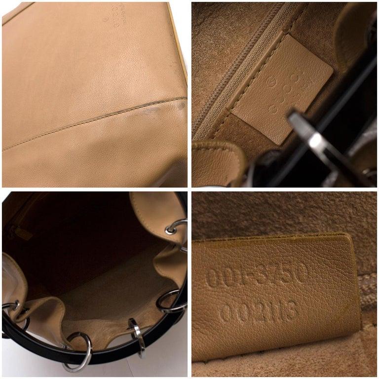 Gucci hoop-handle leather bucket bag For Sale 2