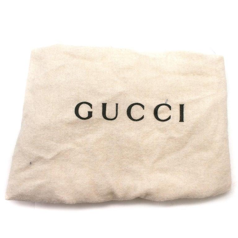 Gucci hoop-handle leather bucket bag For Sale 3