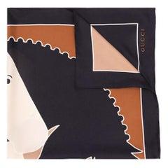 Gucci 'Horse' Print Silk Scarf