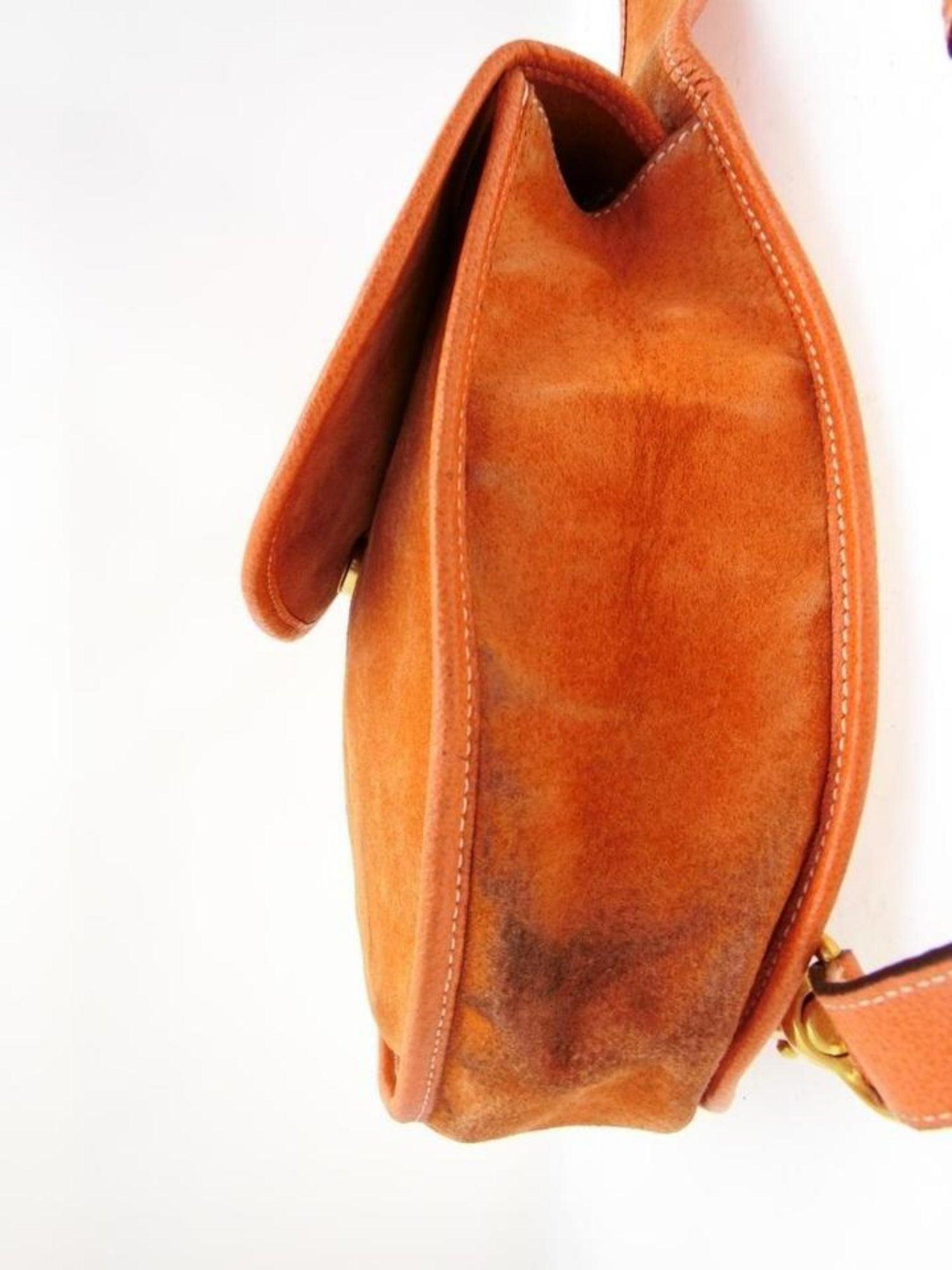 130a46070261 Gucci Horsebit Burnt Body 228677 Orange Suede Leather Shoulder Bag For Sale  at 1stdibs