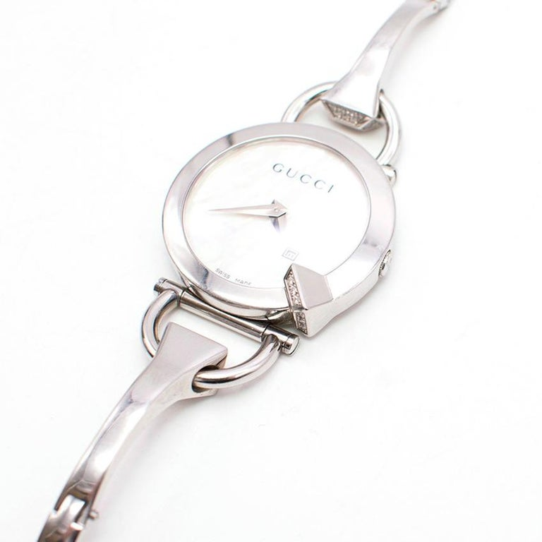 Gucci Horsebit Diamond Watch For Sale 2
