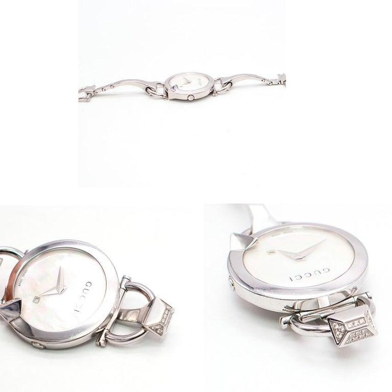 Gucci Horsebit Diamond Watch For Sale 3
