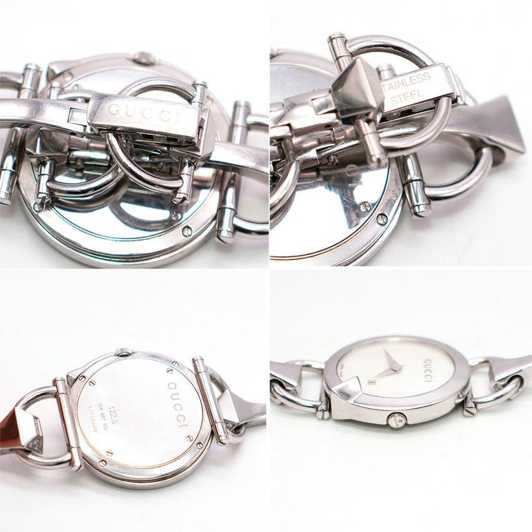 Gucci Horsebit Diamond Watch For Sale 4