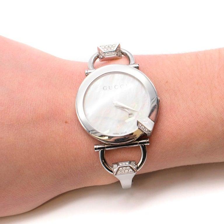 Gucci Horsebit Diamond Watch For Sale 5